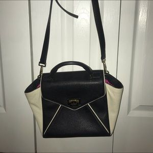 Black and White Leather Kate Spade Purse